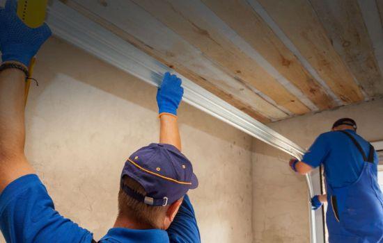 Repairing a garage door rail - GP Garage Door Repair Fourways.jpg